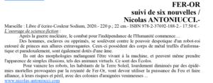 Article du journal Le Bibilothécaire sur Fer-Or